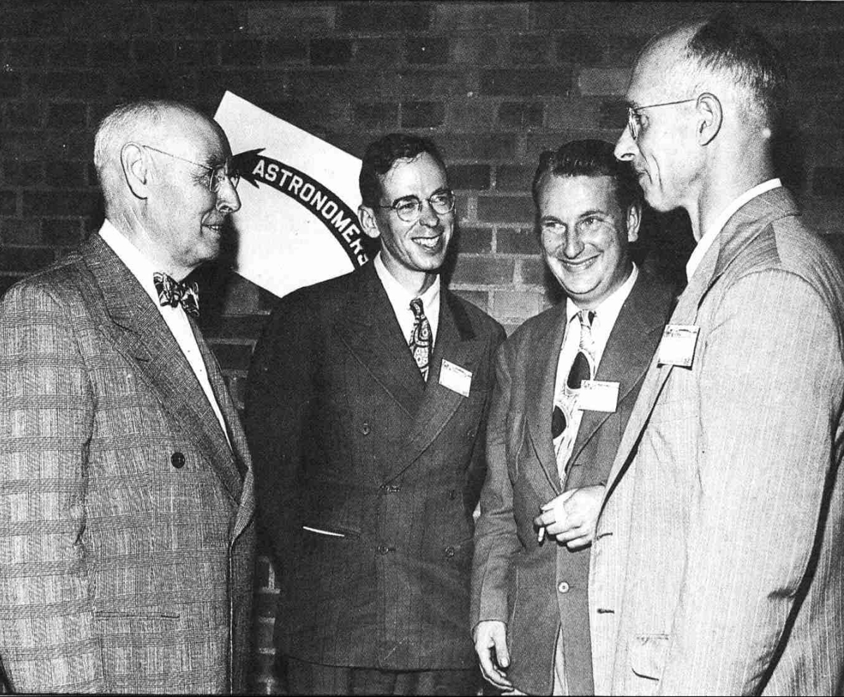 Historic Photo of G. Bruce Blair, Walter Hass, Thomas Cave and Charles Federer Jr.